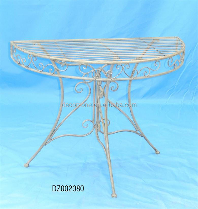 Hot Sale Metal Half Round Outdoor Dinner Tables