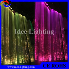 no electricity fiber optic waterfall light curtain with remote control