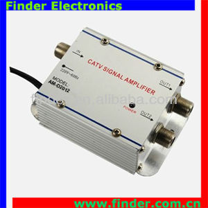 2Port CATV Distribution Amplifier, Cable TV Signal Amplifier Gain 20dB