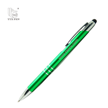 New hot selling click action aluminum promotional metal stylus touch screen pen
