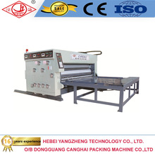 China corrugated carton box water ink flexo printer slotter and die cutter machine