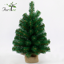 Cheap wholesale decoration mini desk pvc artificial christmas tree