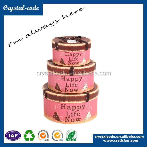Factory sale most welcomed perforated round carton box