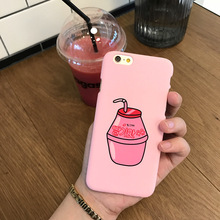 Hard PC cute pink phone case for iphone5s 6 6s 6plus 7 7plus frosted back cover for girls