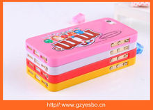 New design 3d M&M Cholocate bean case for iphone 5 5S M&M's case