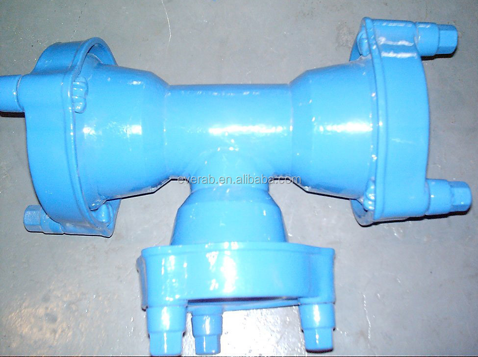 All EX Socket Tee for Ductile Iron PVC socket fittings