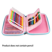 Eco-friendly big capacity school Stationery EVA pencil case