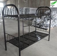 Black colour heavy duty metal double decker bed price