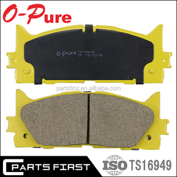 Wholesale Ceramic NAO Disc Brake pad Manufactures For TOYOTA CAMRY Break Pads OE 04465-06080 04465-33450 04465-07010 D2270