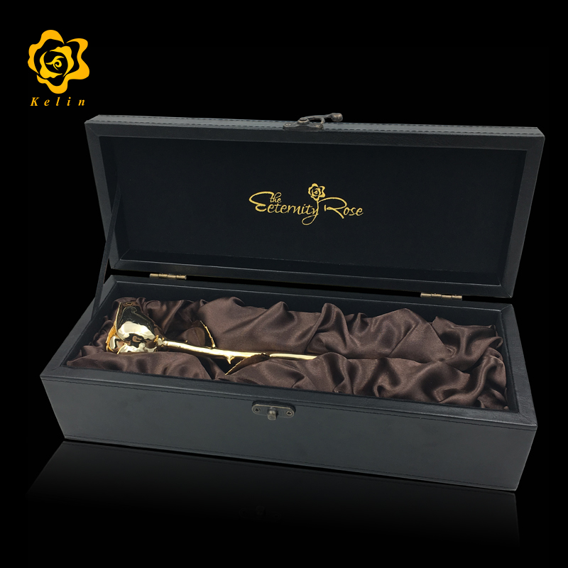 Factory offfer 24K Gold Real Rose with gift box and certificate