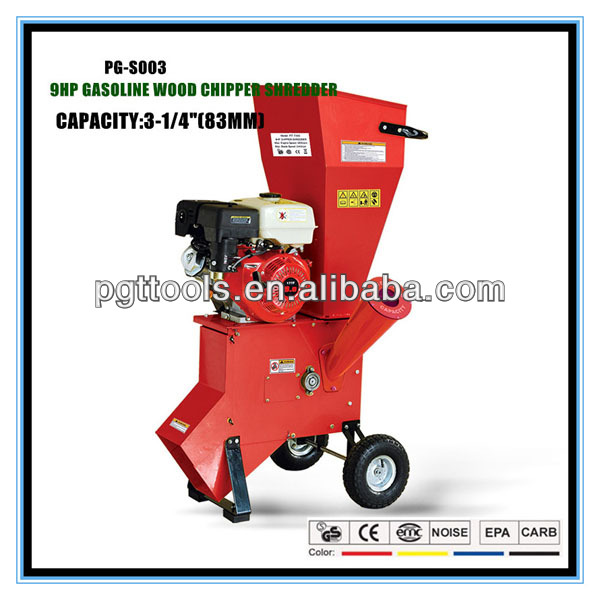 9HP 83MM Petrol Manual Garden Shredders