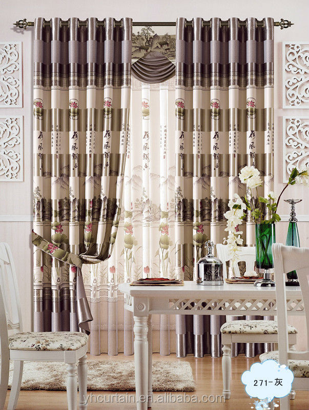 Jacquard polyester fabric of office window curtains