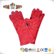 "FTSAFETY 14"" welding safety gloves with leather grade A AB BC"