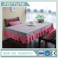 PVC PLASTIC TABLE CLOTH CLEAR COVER FILM USED FOR DECORATIVE INDOOR