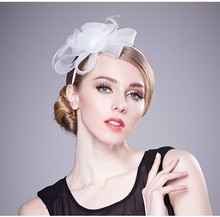 Fashion Flower Hair Accessories decorate with feather for girls Fascinator