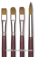 Art Wooden Handle Filbert Round Kolinsky Sable (Weasel) Hair Oil Artist Paint Brushes for Acrylic Watercolor Painting
