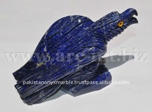 natural gemstones lapis lazuli Eagle carving Sculpture Lapis Lazuli Animal shapes Figurines and birds crafts figures hand made