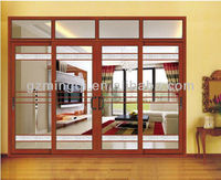 12mm tempered glass sliding commercial door