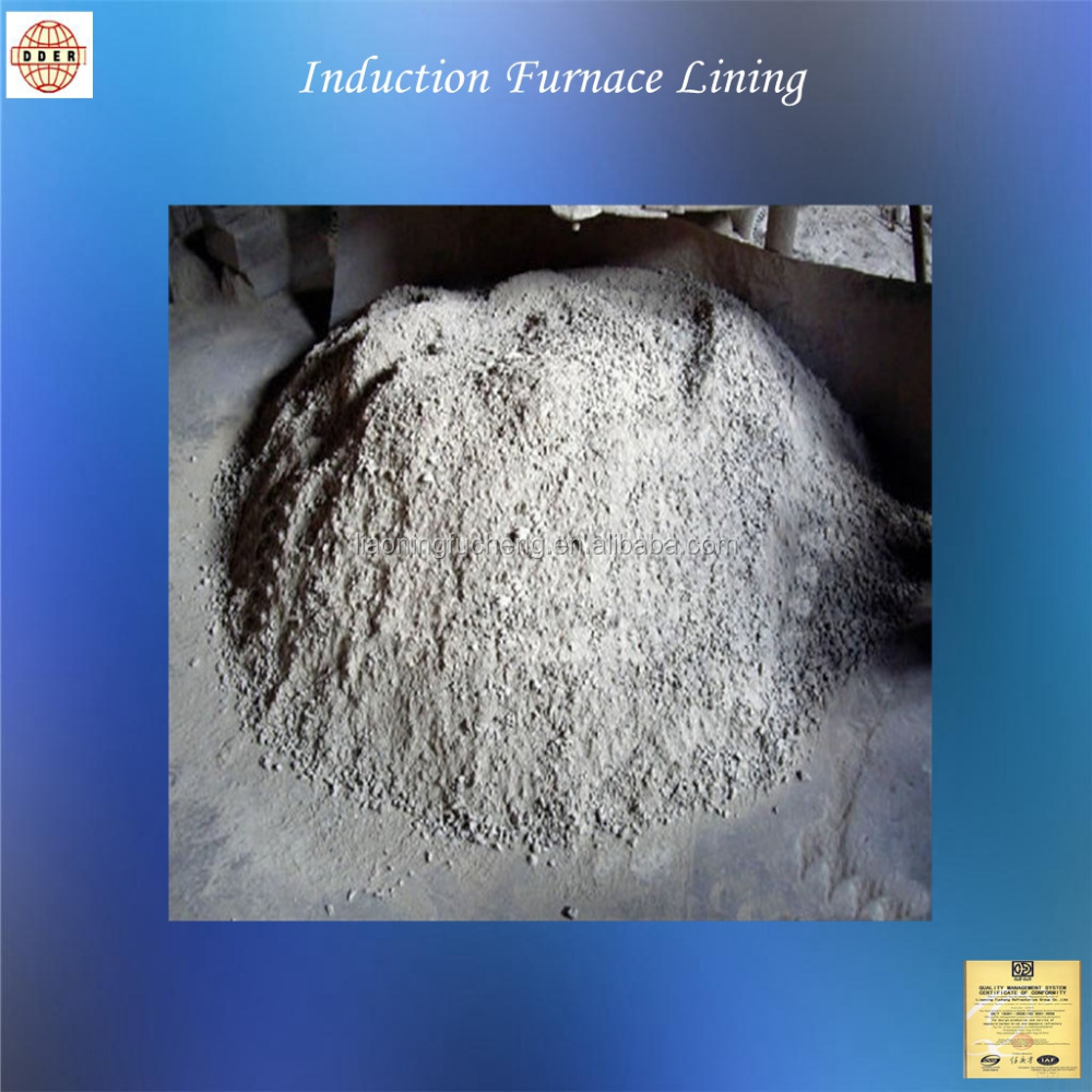 FC quartz base acid induction furnace lining