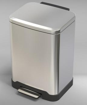 50L stainless steel waste bin with soft close