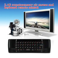 6-Axis Inertia Sensors FM5 2.4G Air Mouse +QWERTY Keyboard +IR Remote Control for android tv box