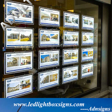 A1 A2 A3 A4 real estate agent led window display for menu board
