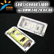 Super White 7000K LED license plate light for BMW E46 2D Coupe/E46 M3 (04-06) Error Free waterproof led tail light for BMW