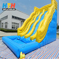 Wave theme inflatable water slide for sale