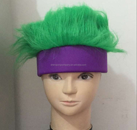 sports sweatband with green hair