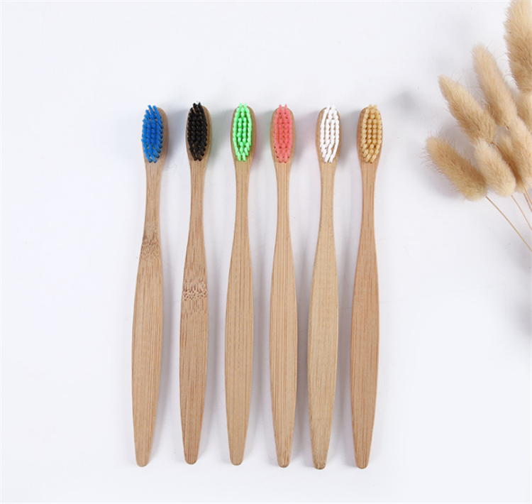 2019 new 100% biodegradable Soft hair wholesale bamboo toothbrush