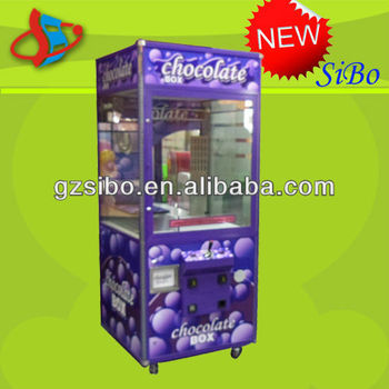 GM4161A refrigeration function chocalate castle machine, claw crane machine with refrigeration system