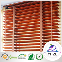 Custom cordless faux wood blinds
