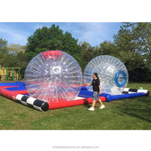 hot sale inflatable Hamster Drag Racing/ Human hamster ball race/ Zorb race track with 2 lanes