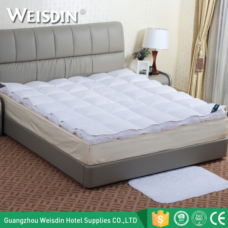 China supplier new premium hotel white duck dow feather mattress topper