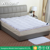 China supplier new premium white duck down and feather mattress topper