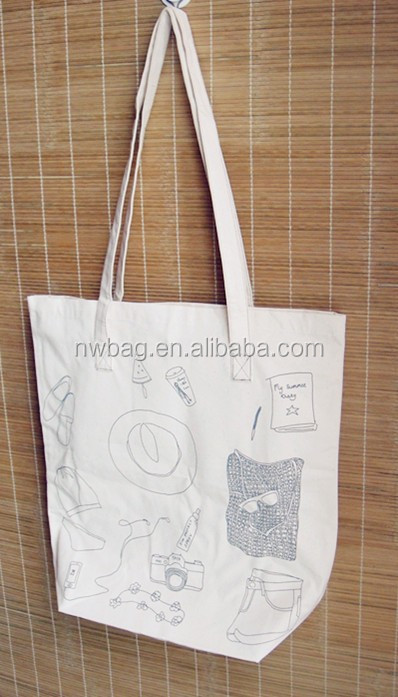 Printed Plain Eco Natural Cotton Totebag