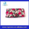 Larger Size 6.69'' x 3.54'' x 0.79'' Inch Aluminum Wallet Credit Card Case Card Holder with Mirror (Flower)