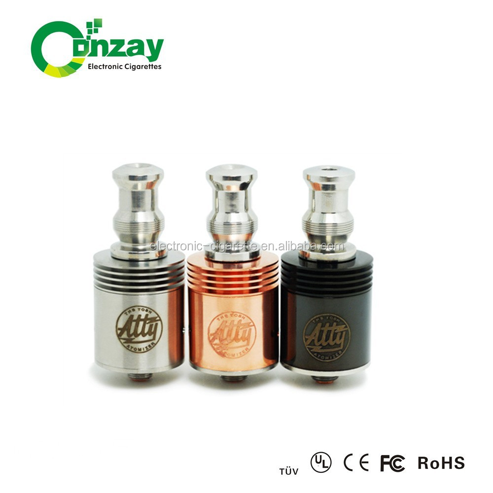 Crazy sales!!!2014 atty rda atomizer tobh atty v2.5 atomizer clone with ss/black/copper/rainbow from conzay