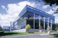 Glass curtain walls with aluminum frame