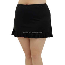 Summer Hot Sexy Women Black Ruffle Skirted Bikini Bottoms for Women Plus Size Black Dress Ruffle Bottom Skirts