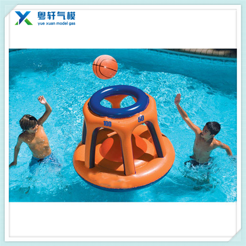 Inflatable water floating basketball stand inflatable basketball hoop