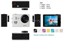 2.0inch HD 1080P Waterproof sport Camera / hd mini sport dv manual Action Camera , wifi sport camera