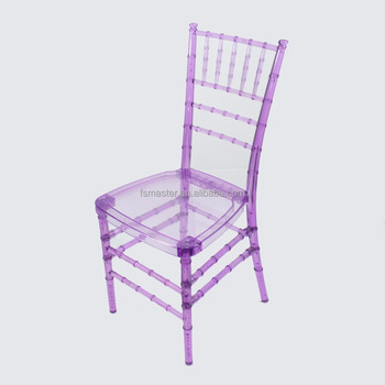 hot sale clear banquet outdoor tiffany chiavari plastic chair