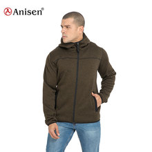 elastic binding windrproof mountain outdoor hooded jacket mens