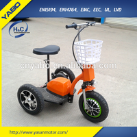2015 factory price 48V 20Ah li-ion Battery Luxuary new design zappy 3 wheel zappy electric scooter