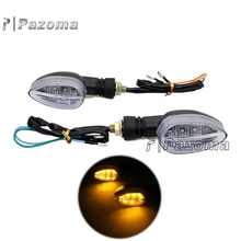 Motorcycle 12V 10mm Turn Signal Light Lamp For Honda Yamaha Kawasaki KTM Street Sport Off Road Chopper Bike