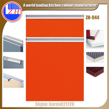 Modern kitchen cabinet no handle kitchen pantry cabinet furniture high gloss kitchen cabinet doors