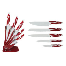 5pcs royal swiss line chef knife set with acrylic block
