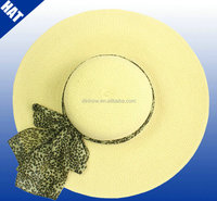 Woven paper straw ladies beach hats to decorate