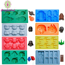8 pack star ball war Themed 3d silicone molds for ice cube tray